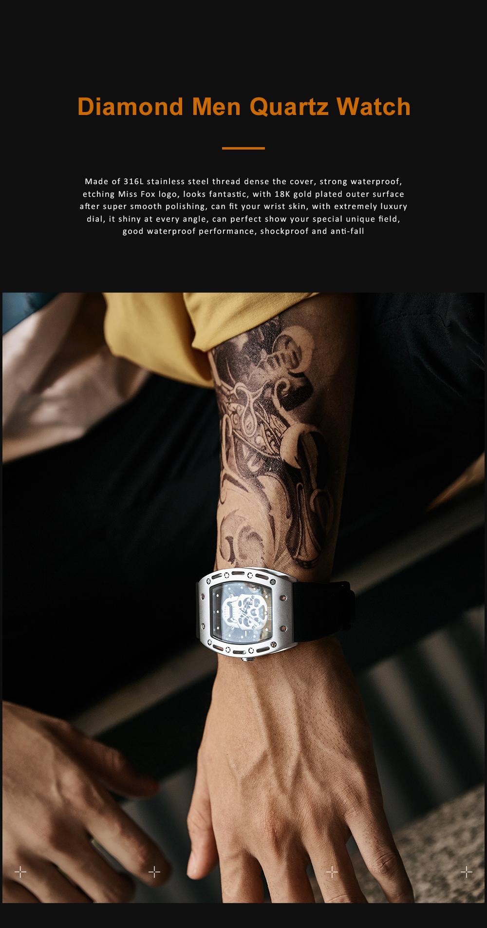 2020 Hot Sell Watches Men Luxury Brand Automatic Silicone Shantou Hollow Men's Quartz Watch Waterproof Movement 0