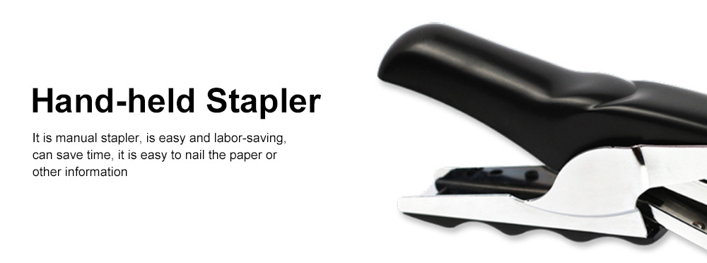 Office Stationery Hand-held Pliers Labor-saving Stapler Binding Machine & School Supplies Book Manual Stapler Desktop Paper 4