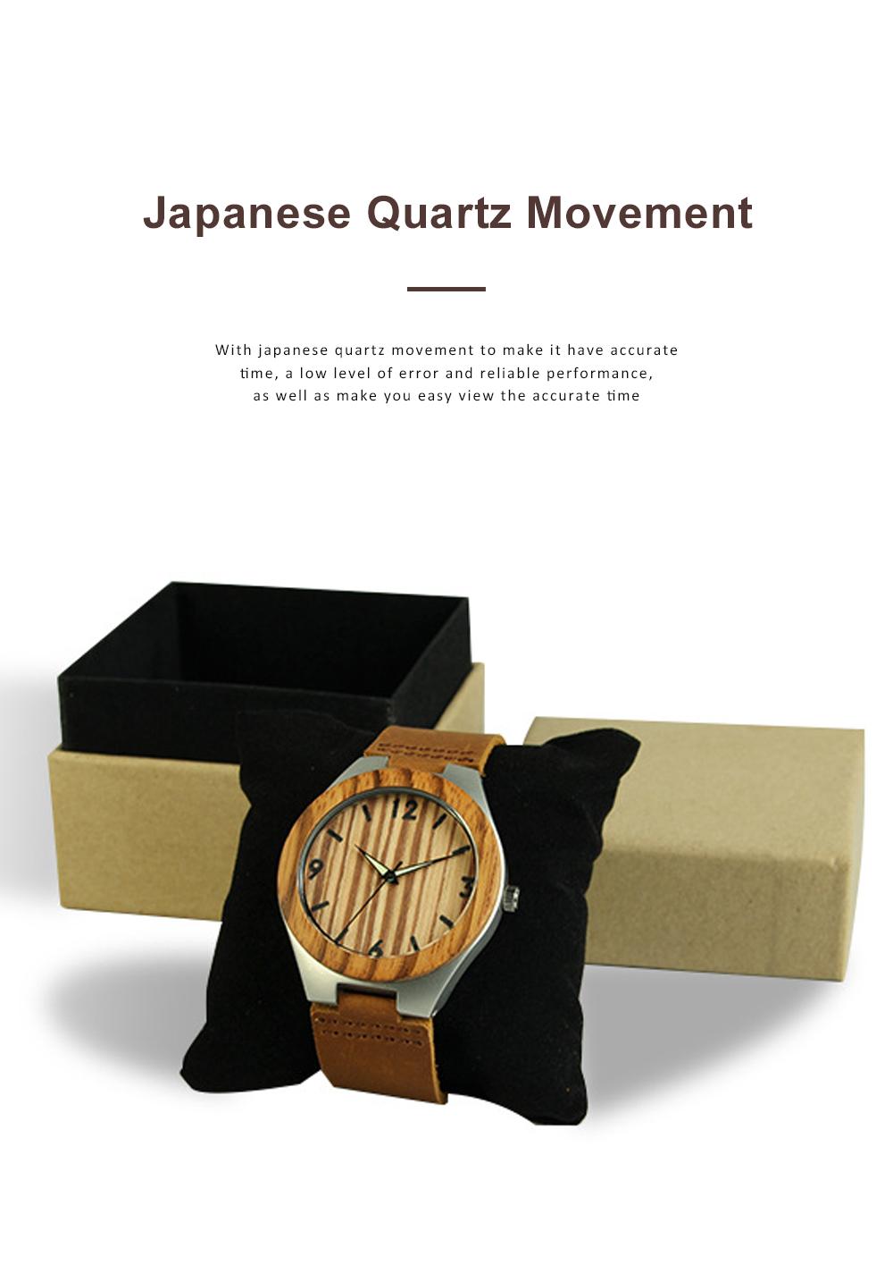 Women Watches Elegant Wood Band Stainless Steel Quartz Wrist Bamboo Watch With Waterproof Wristwatch For Ladies Girls 1