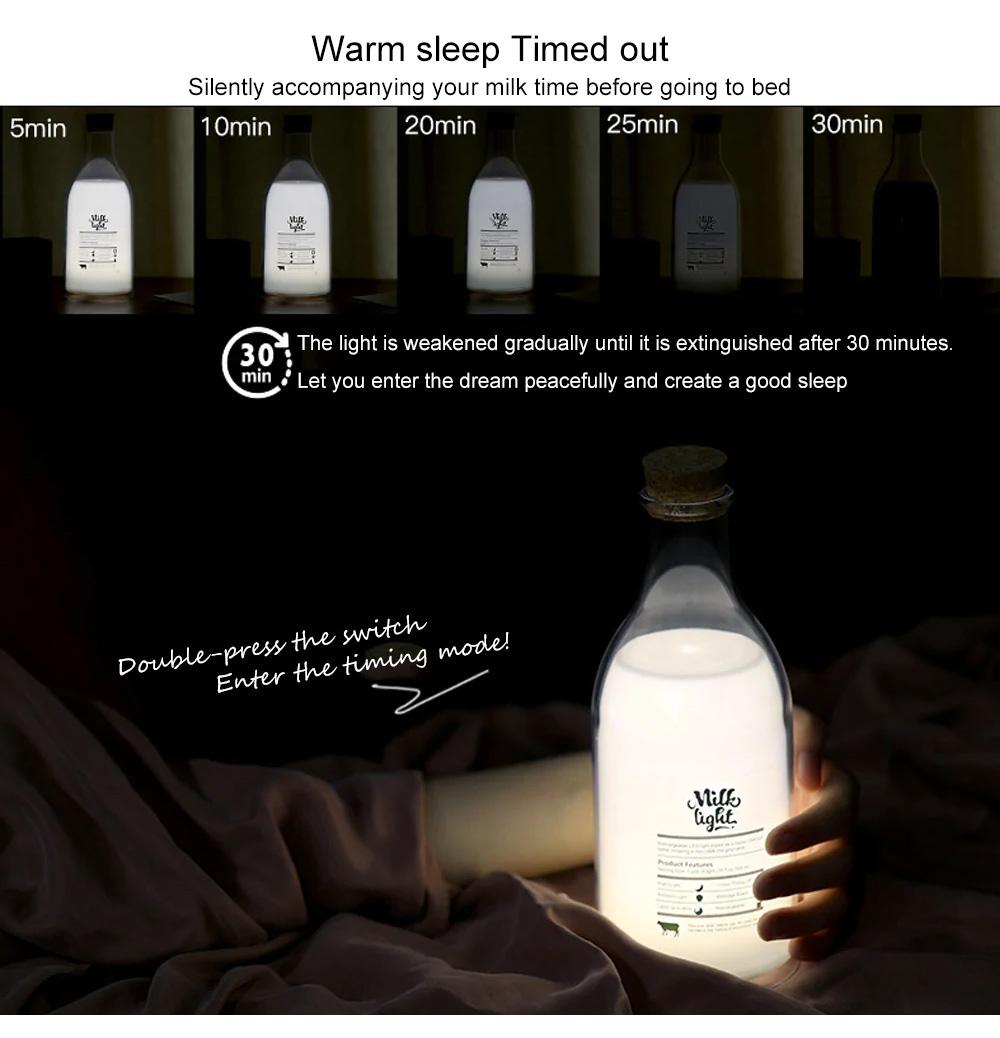 USB Milk Bottle with Sleeping Night Light Creative Light-emitting Table Lamp 4