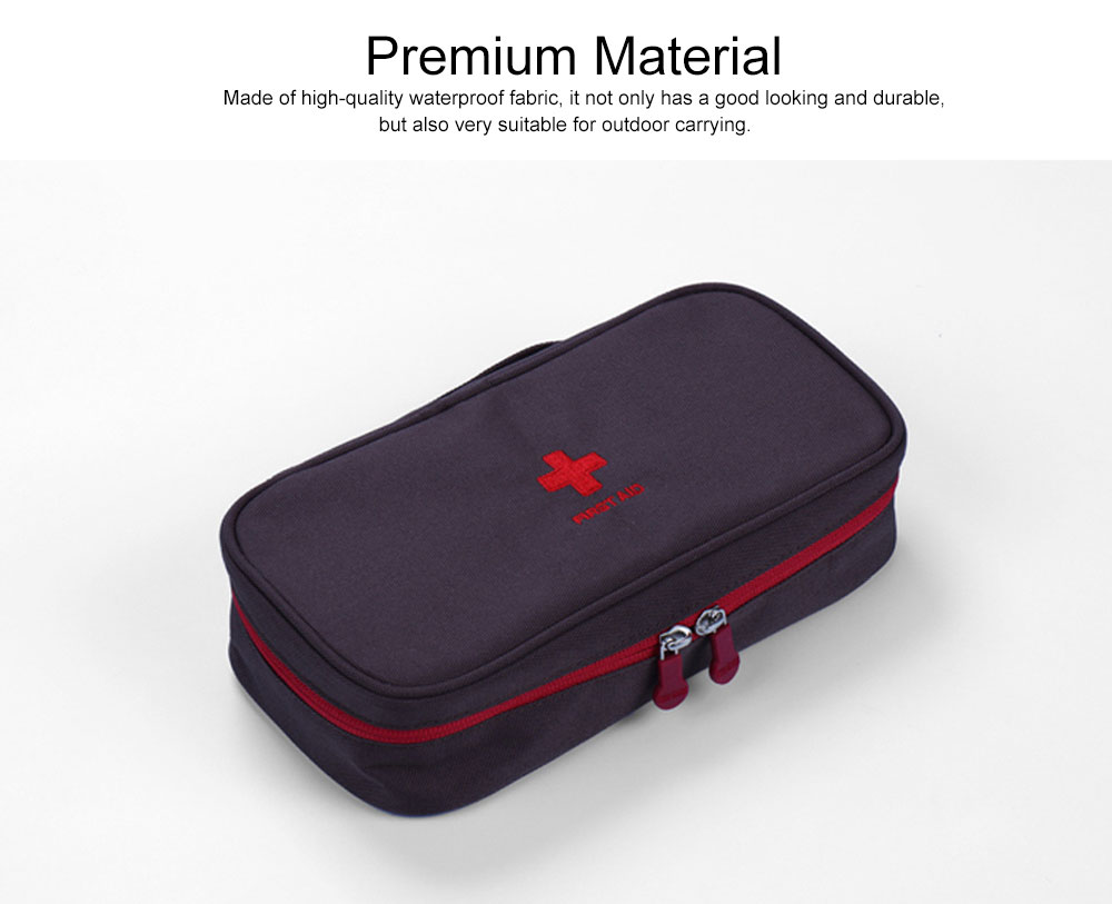 Mini Travel First Aid Bag Kit for Emergency & Survival Situations, Outdoor Medical Survival Bag Medicine Storage Pouch 1