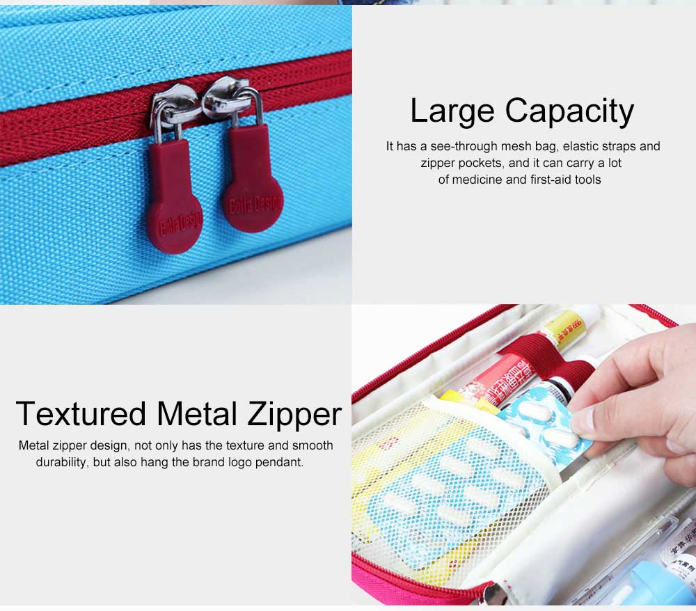 Mini Travel First Aid Bag Kit for Emergency & Survival Situations, Outdoor Medical Survival Bag Medicine Storage Pouch 4