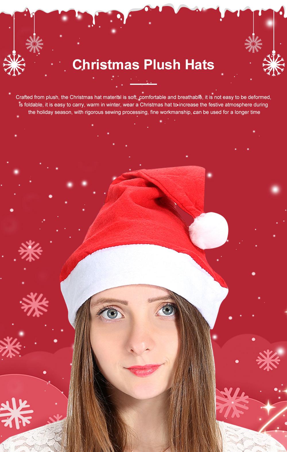New Manufacturers Wholesale Children's Adult Santa Claus Hat General Non-woven Christmas Decorations Hats 0