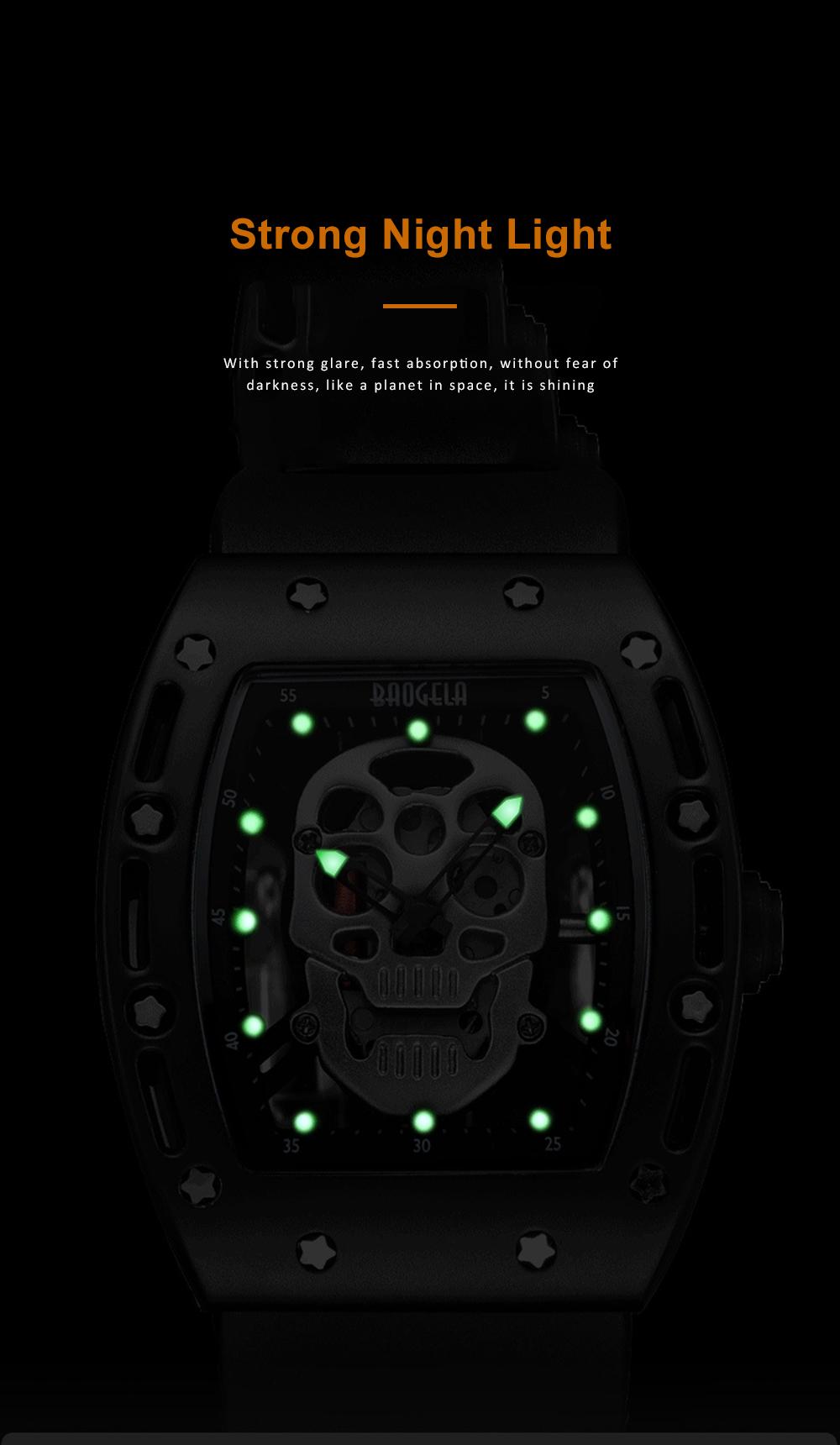 2020 Hot Sell Watches Men Luxury Brand Automatic Silicone Shantou Hollow Men's Quartz Watch Waterproof Movement 2