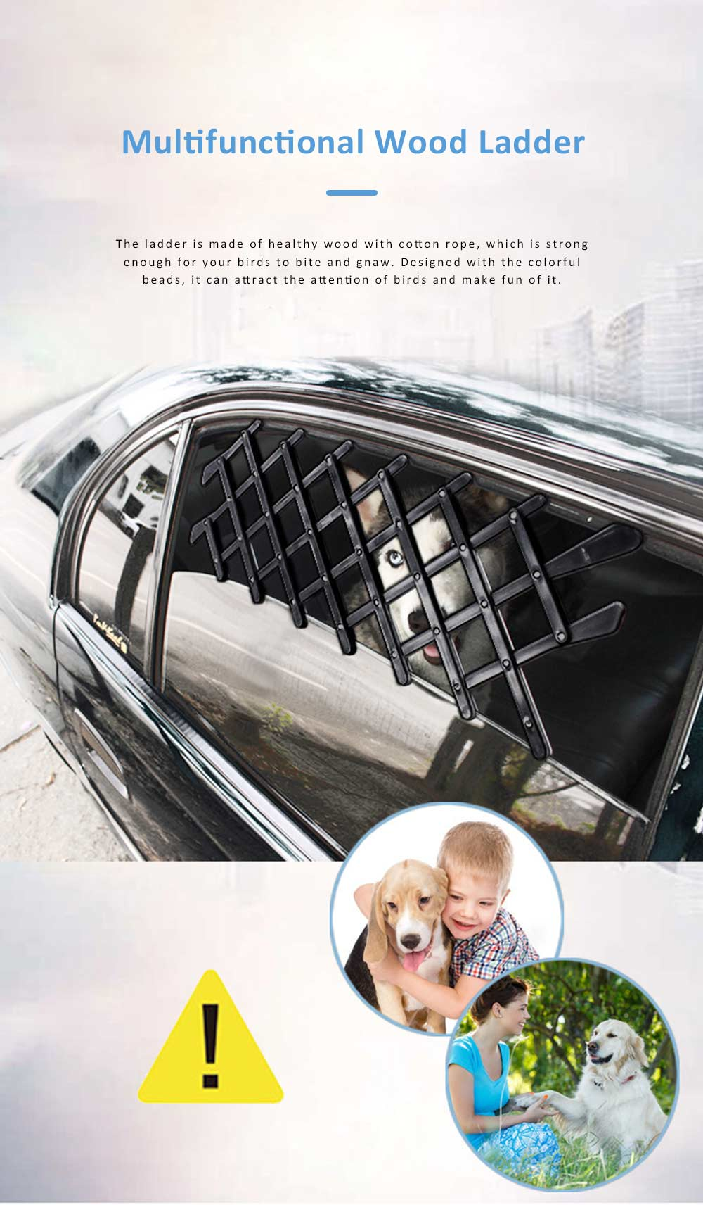 Expandable Car Window Gate Vent Universal Window Ventilation Safe Guard Grill for Pet Kids 0