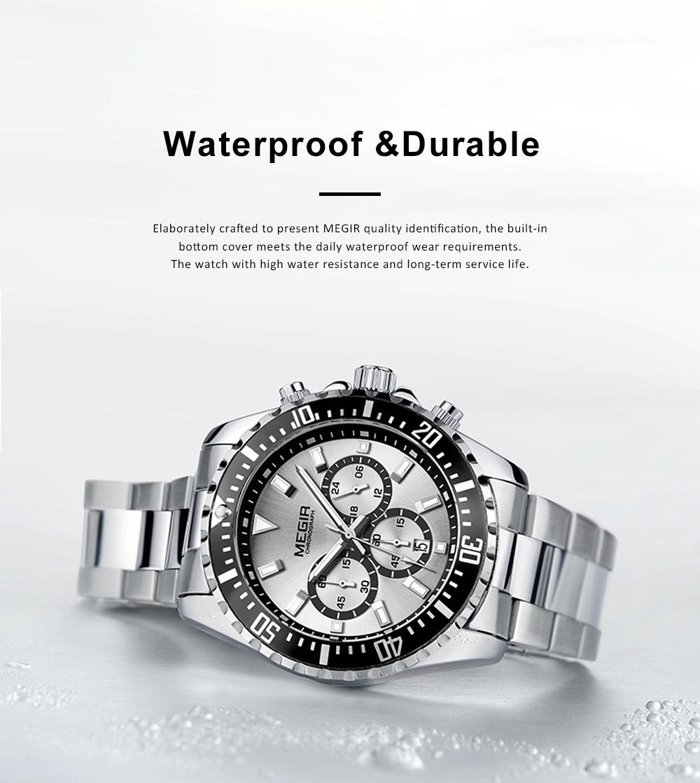 Men's Multifunctional Wrist Watch with Luminous Display and Quartz Movement Fashion Waterproof Watch 6