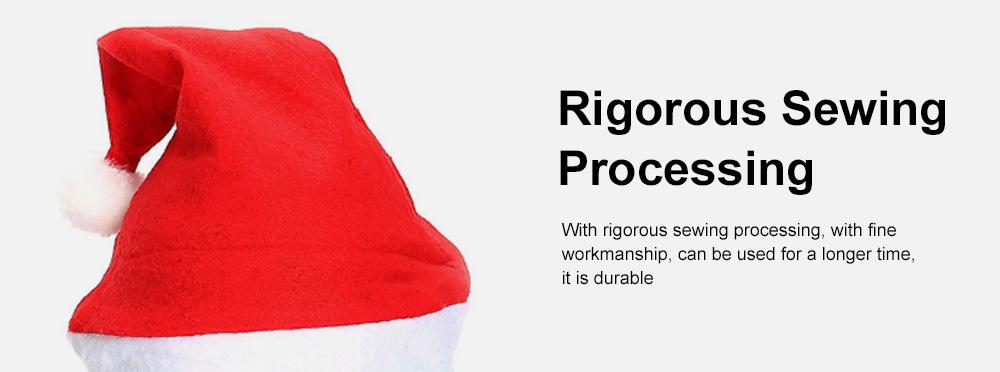 New Manufacturers Wholesale Children's Adult Santa Claus Hat General Non-woven Christmas Decorations Hats 5