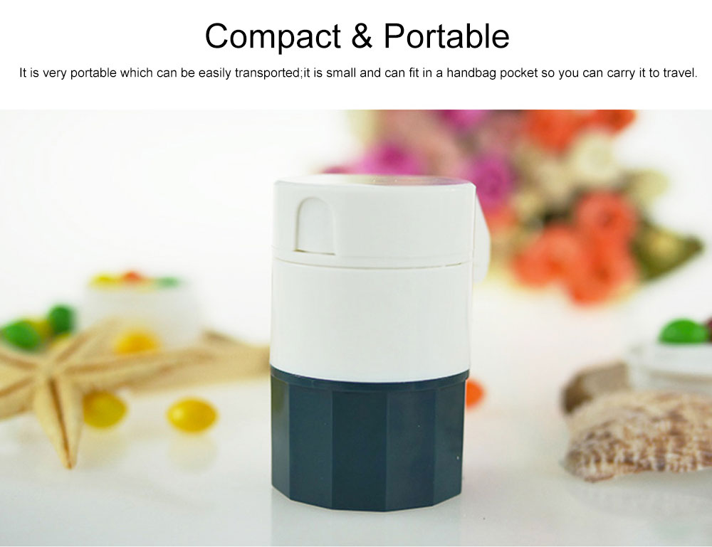 3 In 1 Pill Cutter Crusher and Storage Multi Function Pill Splitter Cutter Powder Organizer for Daily or Travel Use 6