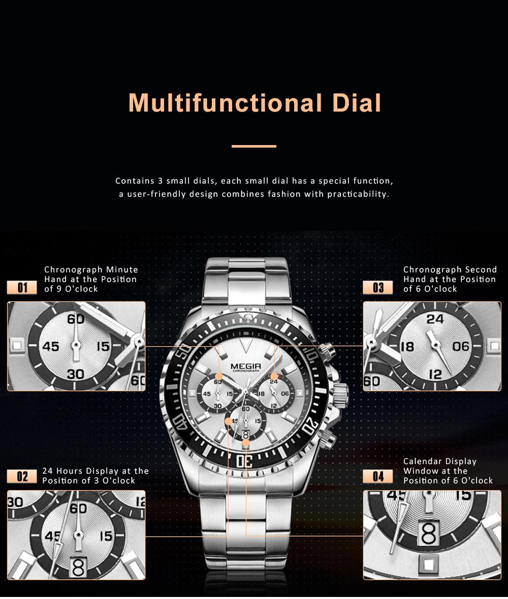 Men's Multifunctional Wrist Watch with Luminous Display and Quartz Movement Fashion Waterproof Watch 1