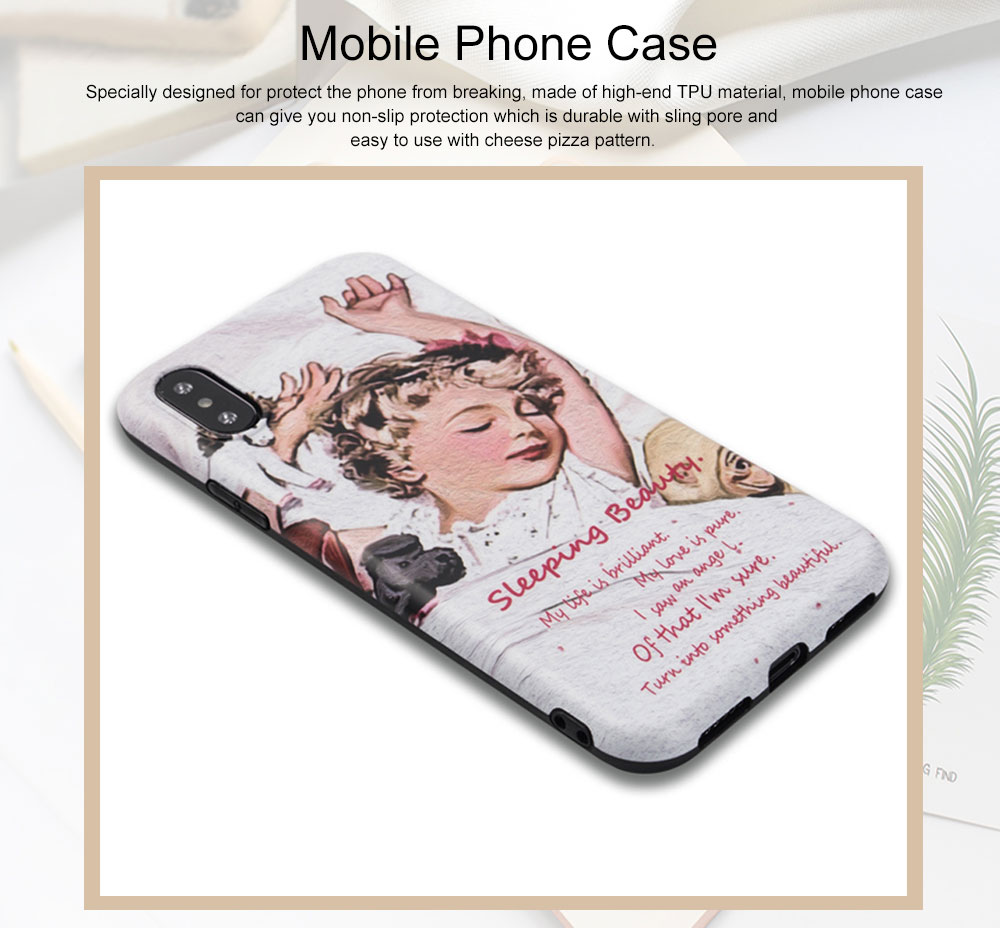 Mobile Phone Case with Goodnight Little Princess Pattern Design, Precise Audio Charging Hole Location Protective Shell for iphone 6 6s, iphone 6s plus, iphone 7, iphone 7 plus 8 Plus XS MAX XR 0
