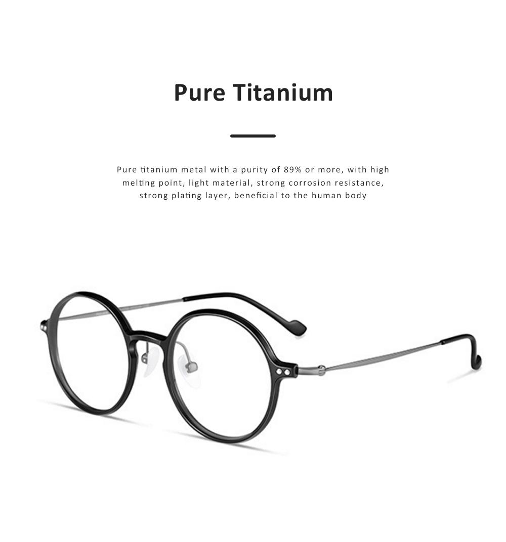 Thin Frame Flat Mirror Glasses Metal Fashion Eyeglass Round Frame Personality Trend Eye Glass Retro Glasses 1