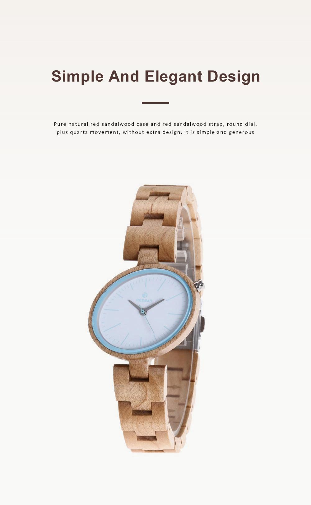 Women Watches Elegant Wood Band Stainless Steel Quartz Wrist Bamboo Watch With Waterproof Wristwatch For Ladies Girls 4