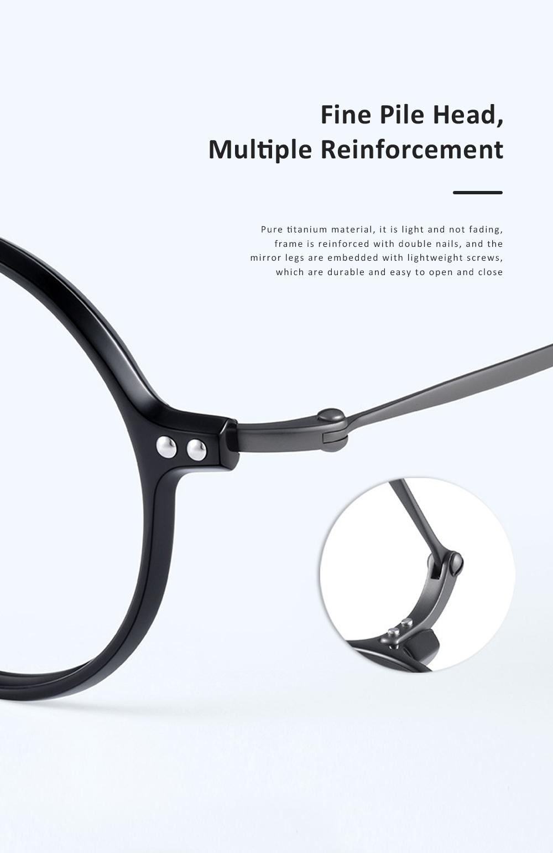 Thin Frame Flat Mirror Glasses Metal Fashion Eyeglass Round Frame Personality Trend Eye Glass Retro Glasses 2