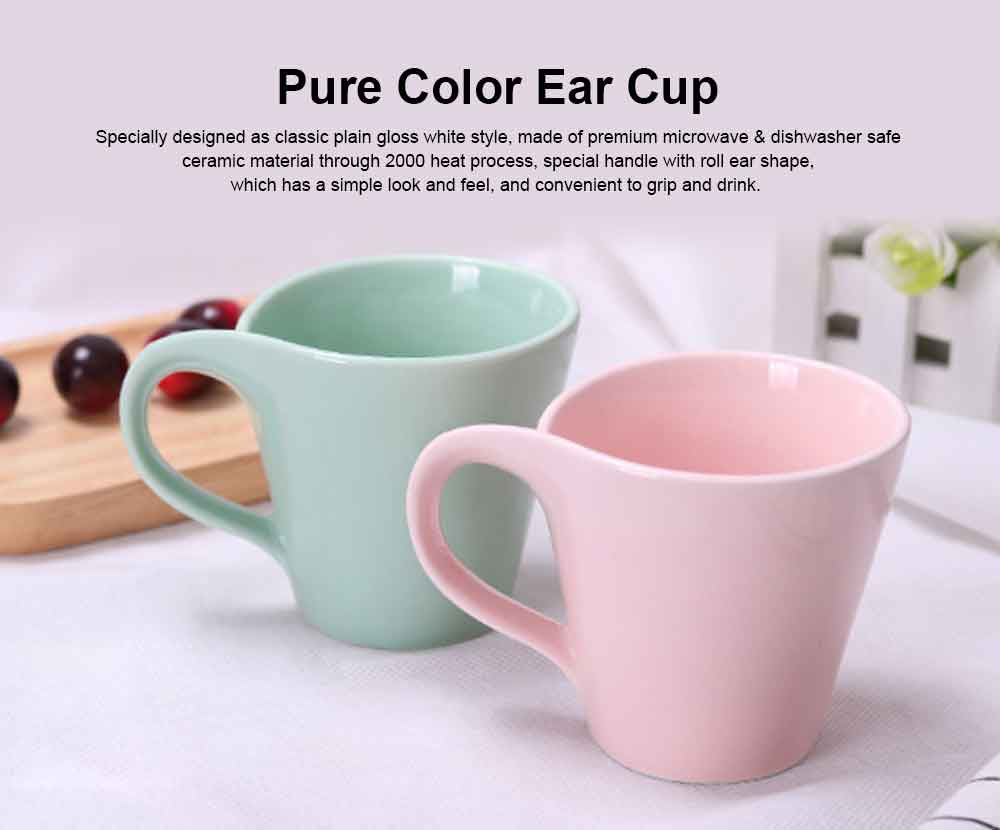 New Arrival Ceramic Coffee Mug Set,plain Color Coffee Cups for Women Travel 2 Pack, Christmas Gloss Mugs with Gift Box Packed 0
