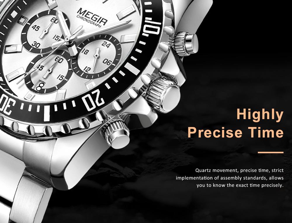 Men's Multifunctional Wrist Watch with Luminous Display and Quartz Movement Fashion Waterproof Watch 5