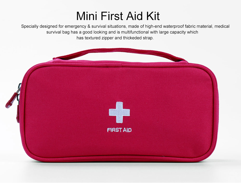 Mini Travel First Aid Bag Kit for Emergency & Survival Situations, Outdoor Medical Survival Bag Medicine Storage Pouch 0