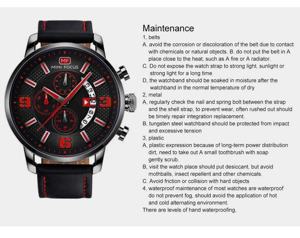 Smart Electronic Watch with Multifunctional Rotary Calendar, 30M Waterproof Males Watch with Wear Resistant Crystal Watch Mirror Genuine Leather Wristband 12