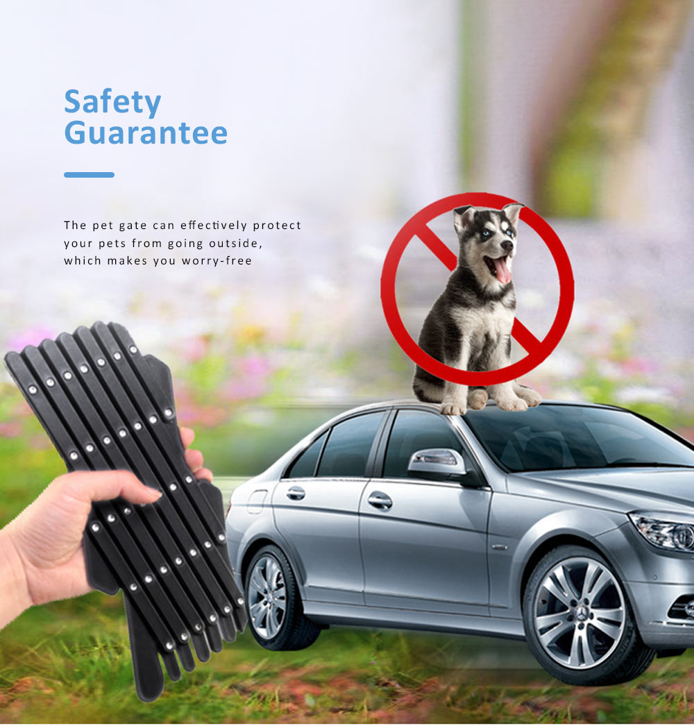 Expandable Car Window Gate Vent Universal Window Ventilation Safe Guard Grill for Pet Kids 2