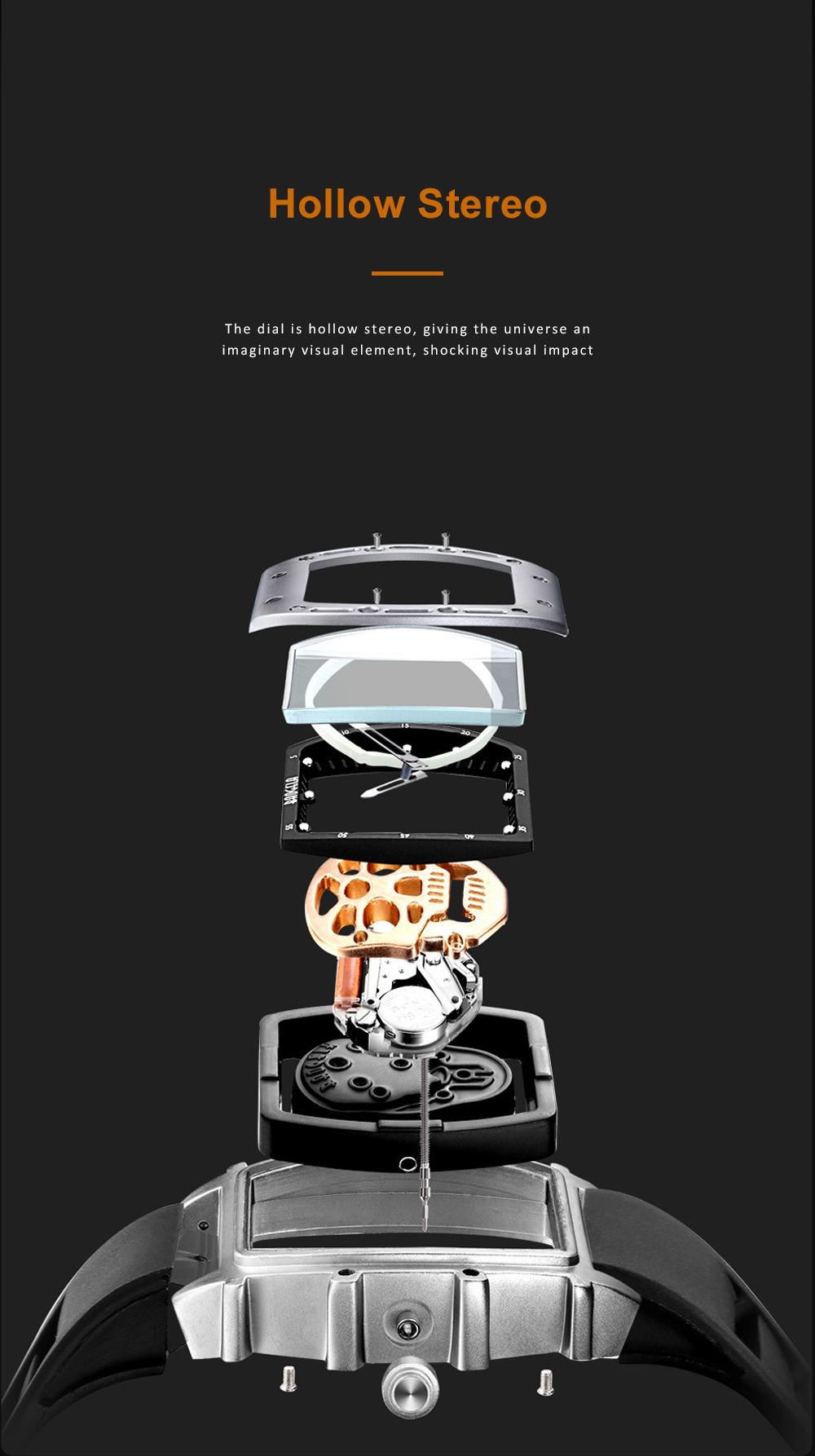 2020 Hot Sell Watches Men Luxury Brand Automatic Silicone Shantou Hollow Men's Quartz Watch Waterproof Movement 3