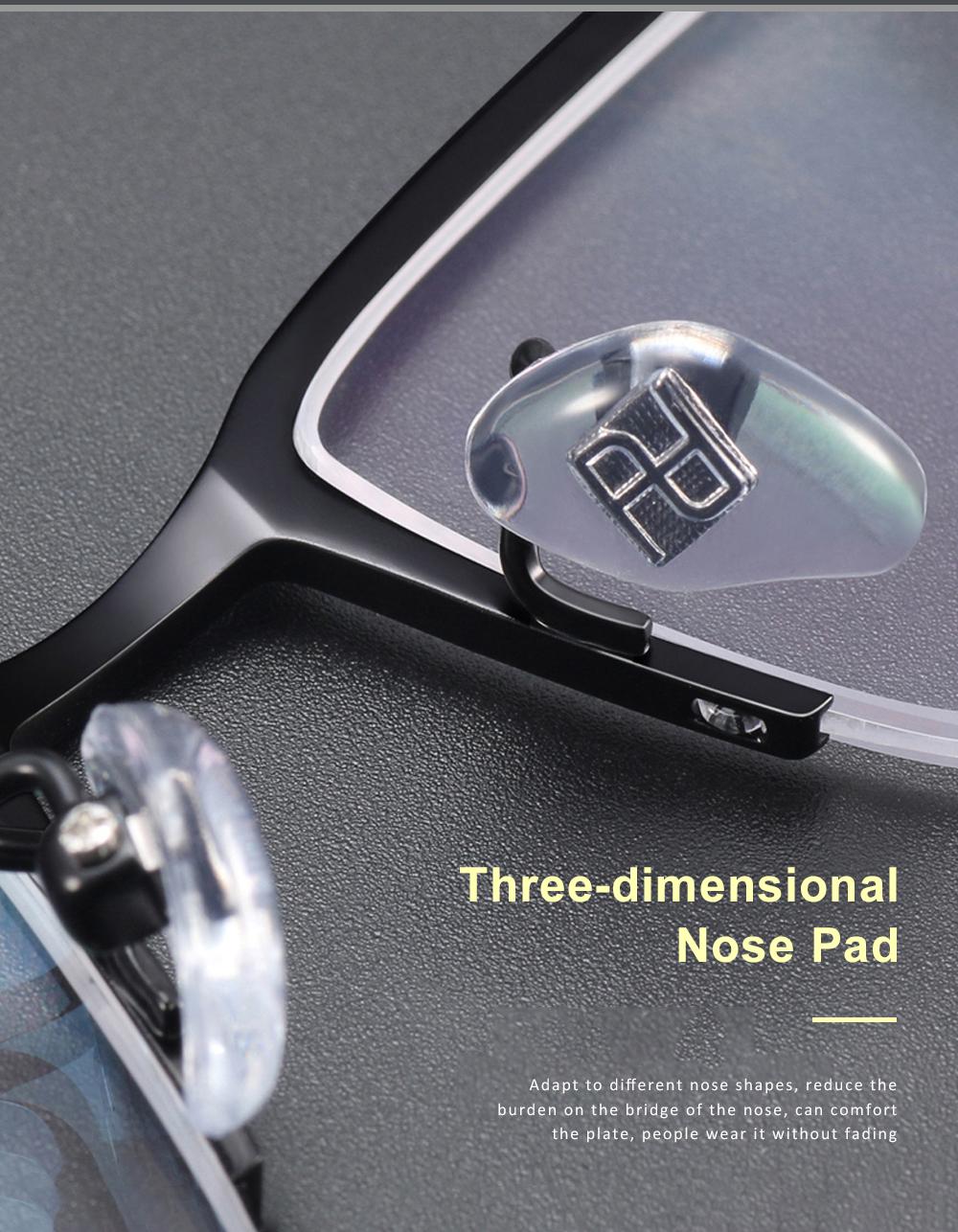 Plating Eyewear High Quality Men Business Half Frame 100% Pure Titanium Frame Glasses Optical Frame 4