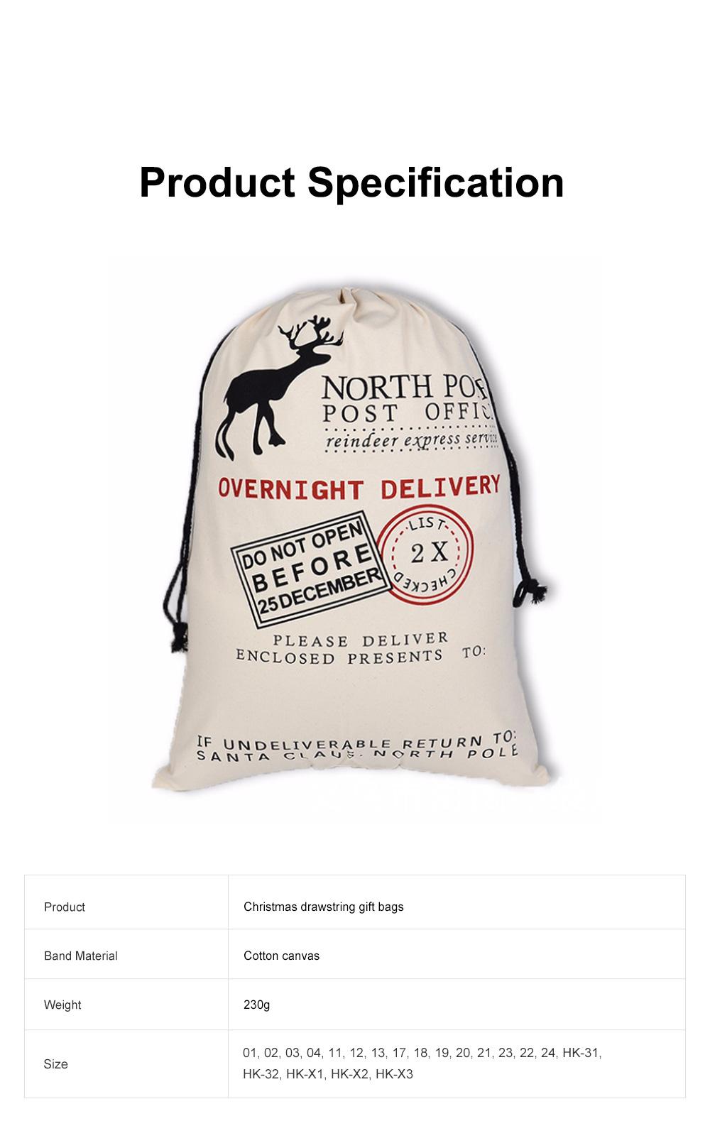 Cheap Recycled Reusable Plain White Organic Calico Cotton Canvas Christmas Drawstring Gift Bags Storage Bag 6