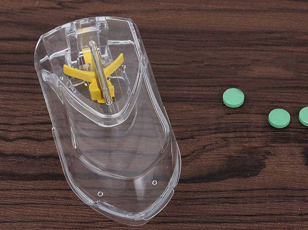 Pill and Tablet Cutter with Room for Storing Medication, Transparent Pill Cutter with Stainless Steel Blade 3