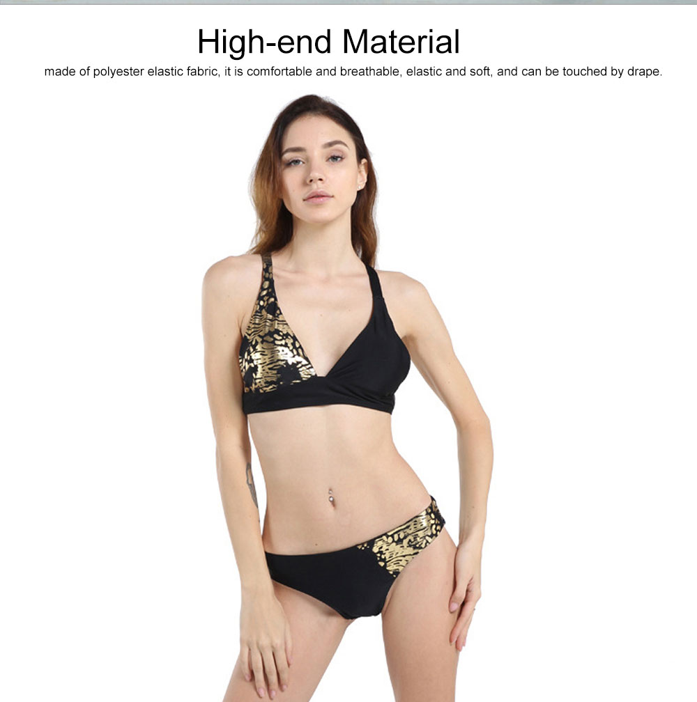 2020 New Arrival Backless Sexy Swimsuit Nylon bronzing Bikini, Skin-friendly & Comfortable Swimming suit 2 Piece Hot Sale 1