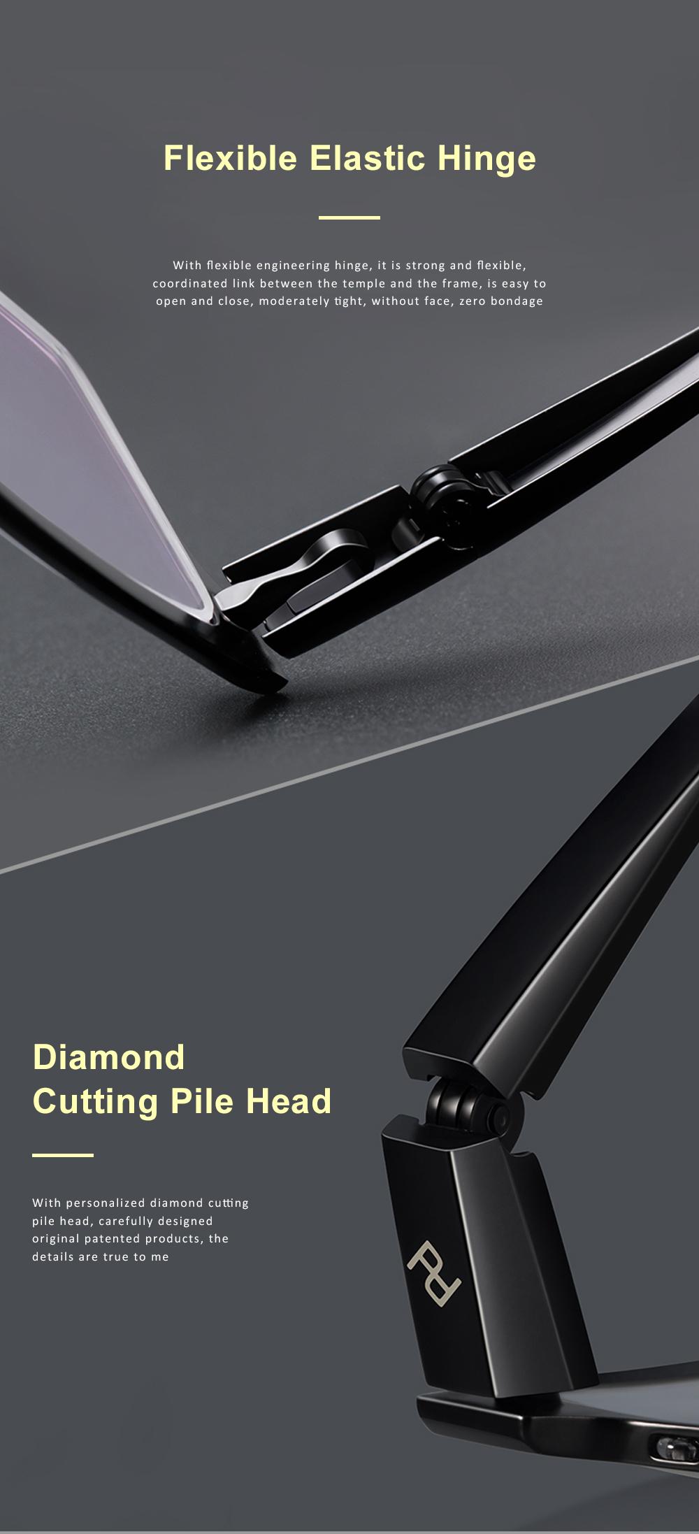 Plating Eyewear High Quality Men Business Half Frame 100% Pure Titanium Frame Glasses Optical Frame 2