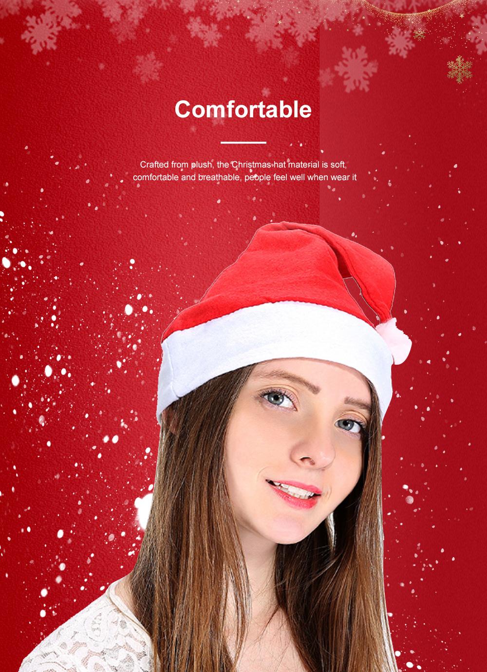 New Manufacturers Wholesale Children's Adult Santa Claus Hat General Non-woven Christmas Decorations Hats 2