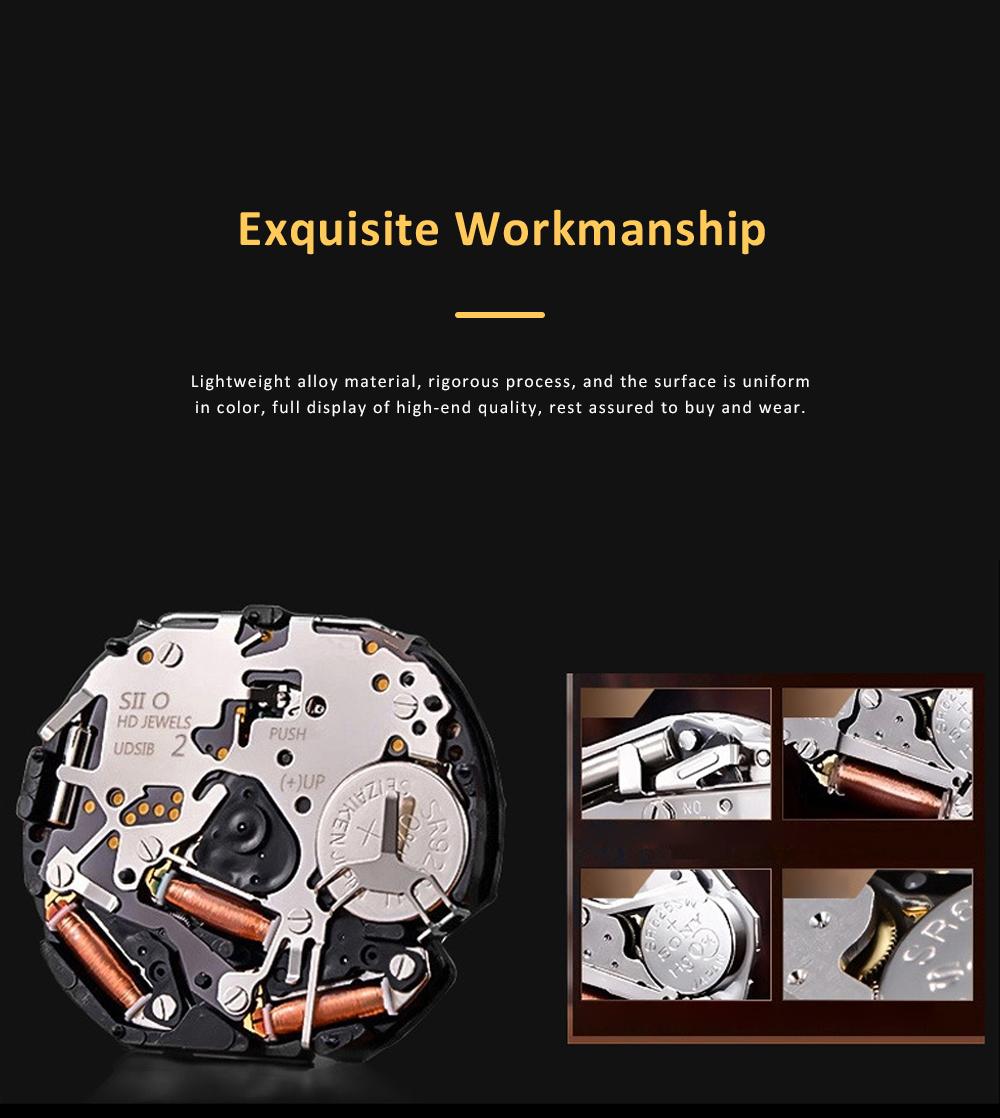 Men's Sports Watch Square Quartz Movement 3ATM Waterproof and Multi Function Wrist Watch 1