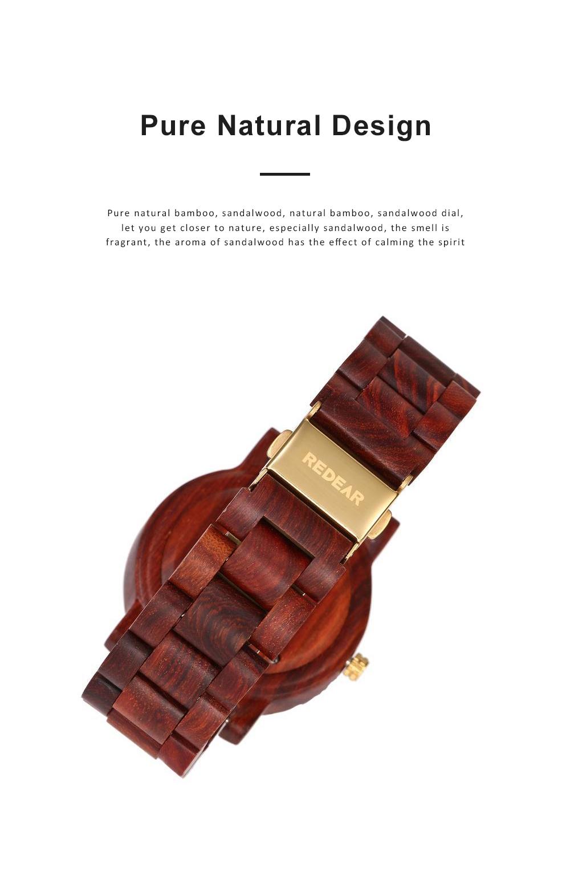 Men Women Watches Elegant Sandal Wood Band Combined Stainless Steel Quartz Wrist Bamboo Watch With Waterproof Wristwatch For Ladies Girls Men 1