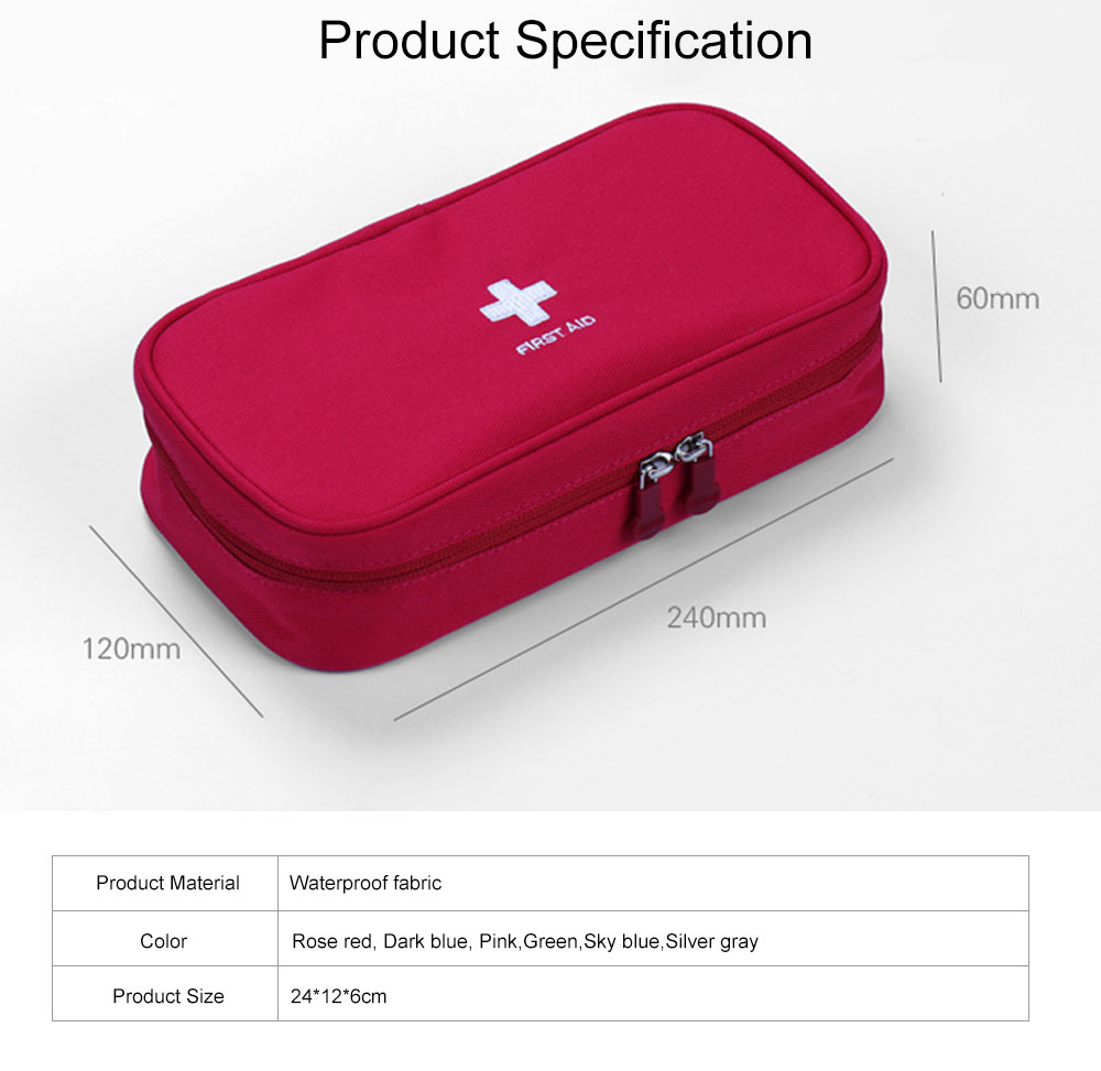 Mini Travel First Aid Bag Kit for Emergency & Survival Situations, Outdoor Medical Survival Bag Medicine Storage Pouch 5