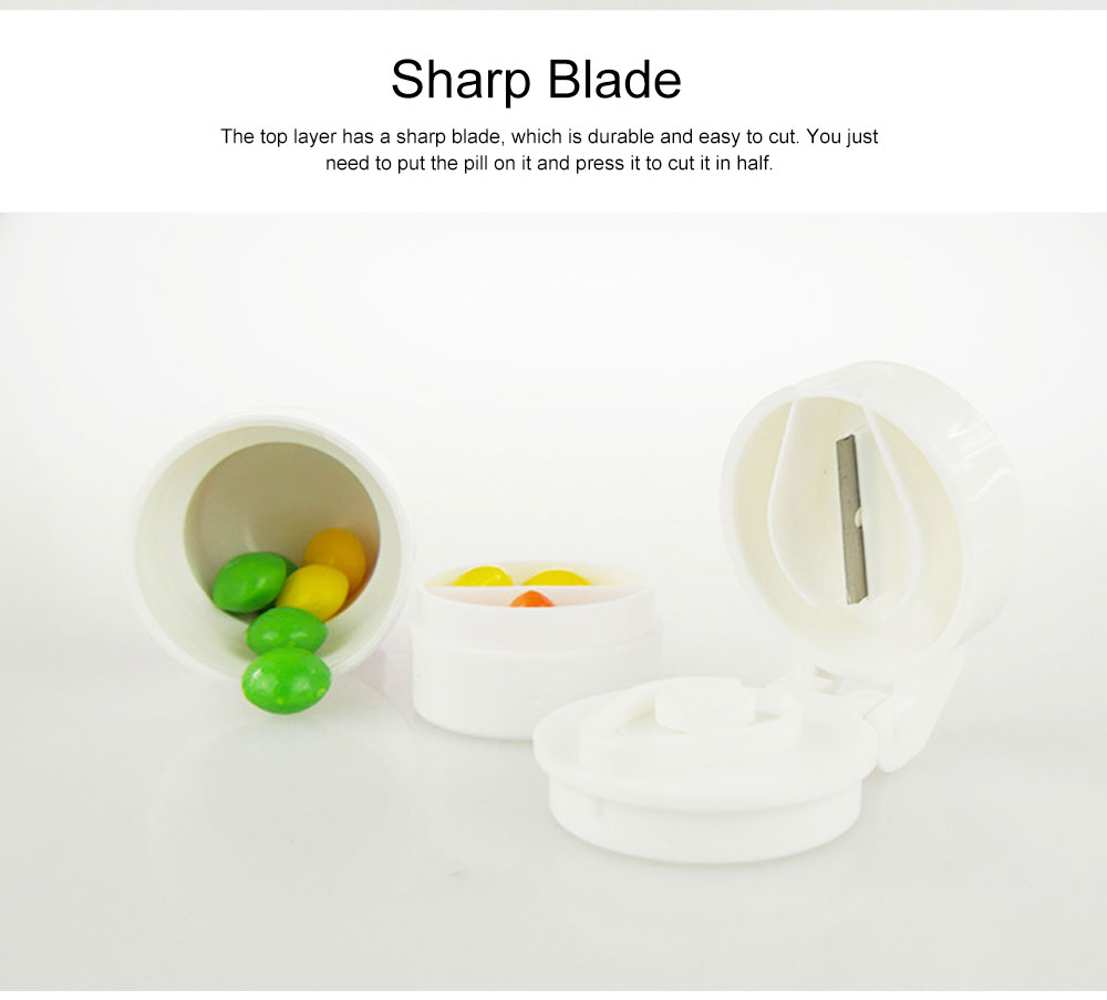 3 In 1 Pill Cutter Crusher and Storage Multi Function Pill Splitter Cutter Powder Organizer for Daily or Travel Use 5