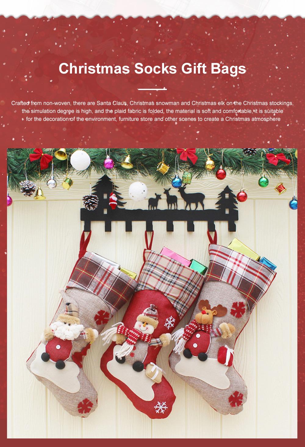 Christmas Decorations Santa Claus Snowman Socks High Quality Christmas Socks Christmas Gift Bags Decorative Gift Bags 0