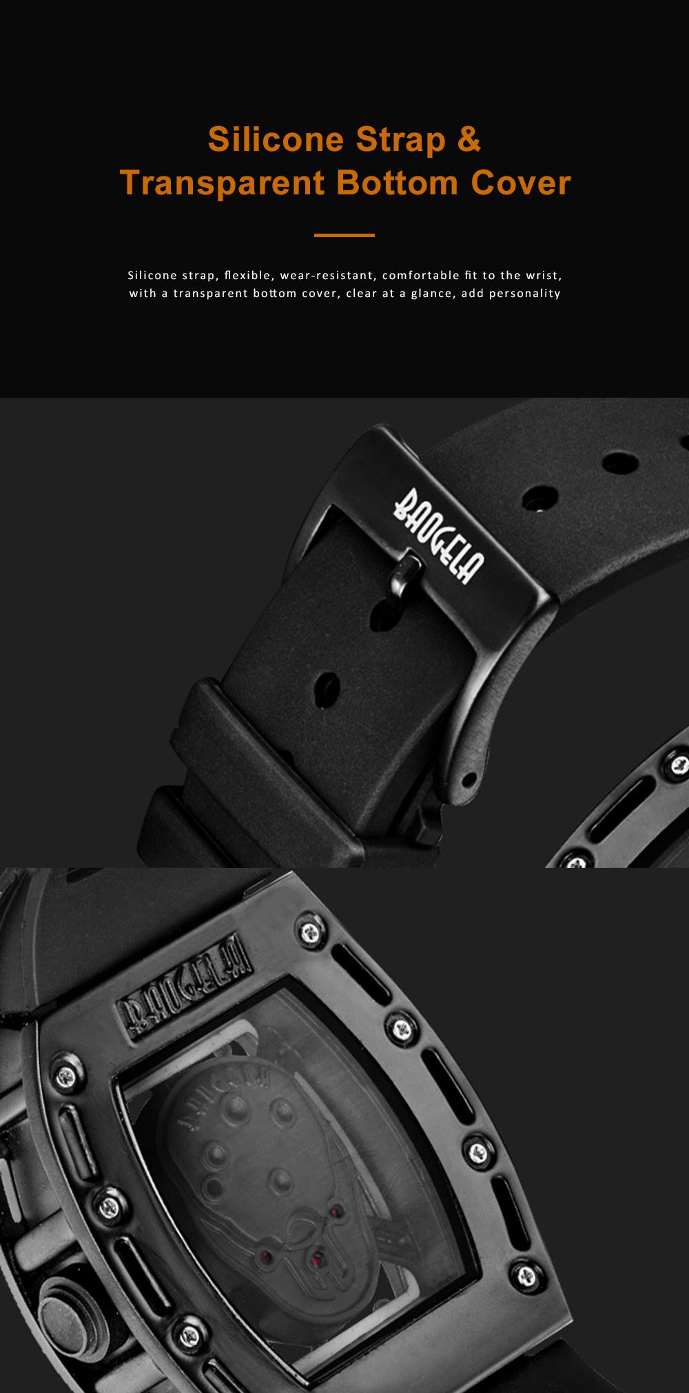 2020 Hot Sell Watches Men Luxury Brand Automatic Silicone Shantou Hollow Men's Quartz Watch Waterproof Movement 4