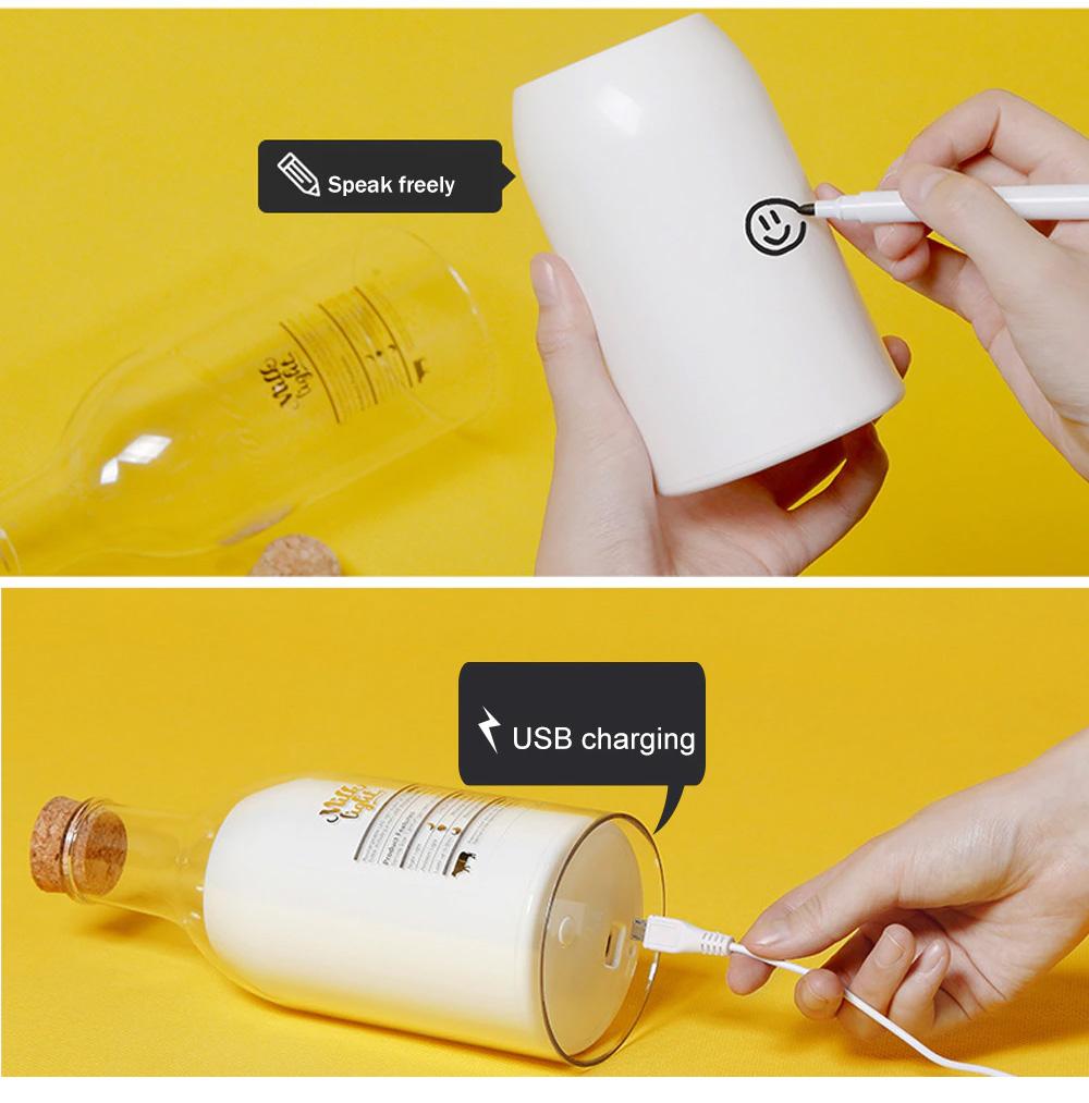 USB Milk Bottle with Sleeping Night Light Creative Light-emitting Table Lamp 3