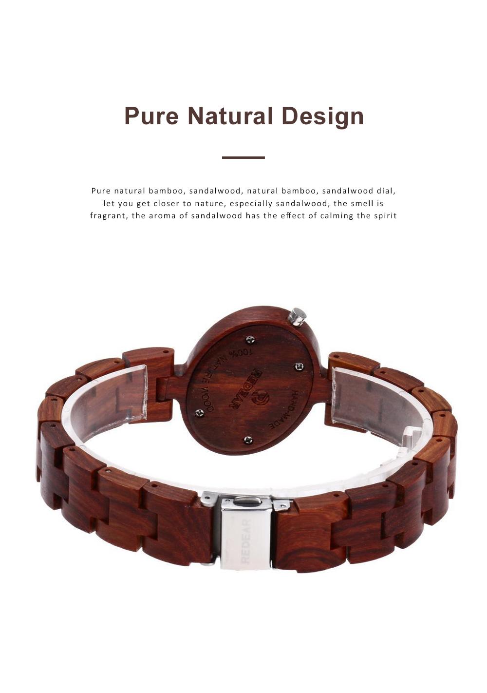 Women Watches Elegant Wood Band Stainless Steel Quartz Wrist Bamboo Watch With Waterproof Wristwatch For Ladies Girls 3