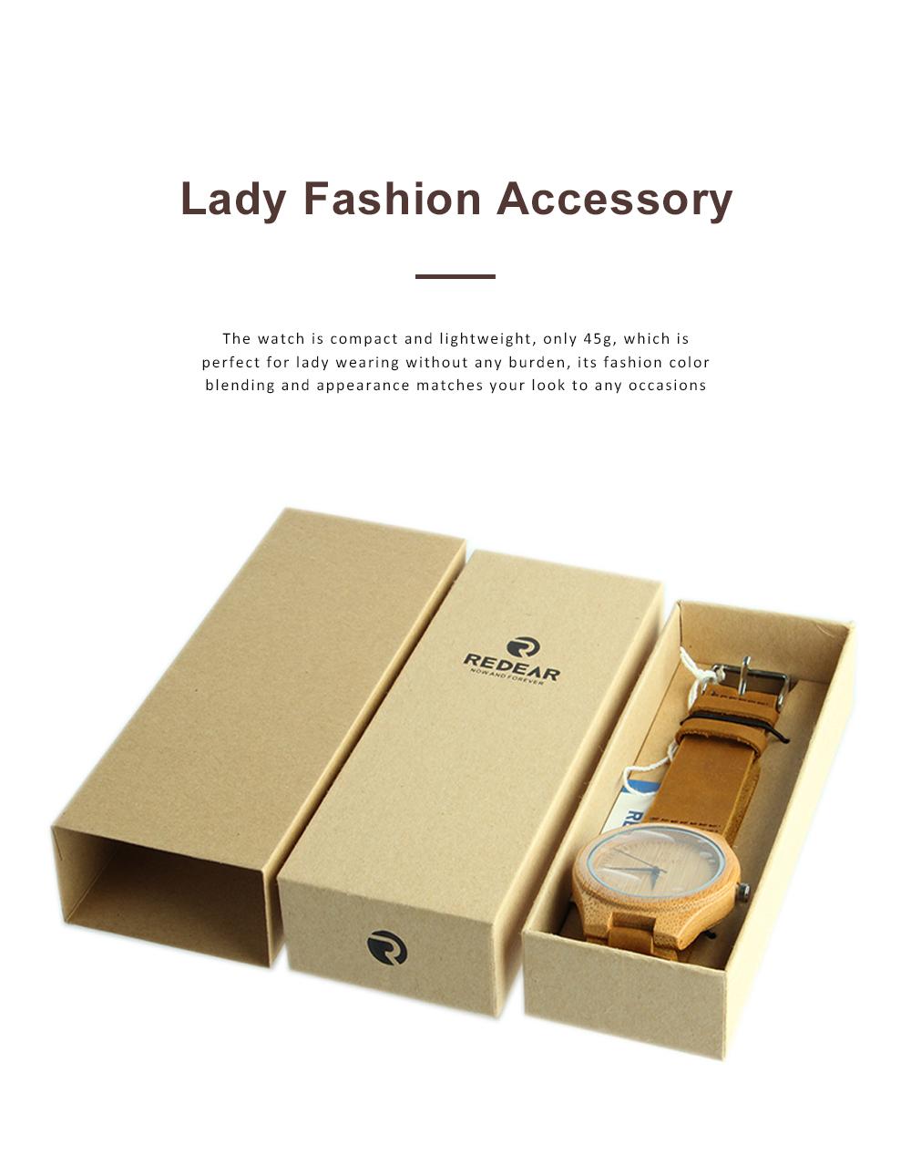 Women Watches Elegant Wood Band Stainless Steel Quartz Wrist Bamboo Watch With Waterproof Wristwatch For Ladies Girls 5