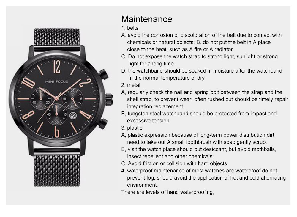Multifunctional Smart Electronic Men Watch, Three Eyes & Six Stitches Calendar Waterproof Watch with Wear Resistant Crystal Watch Mirror 15