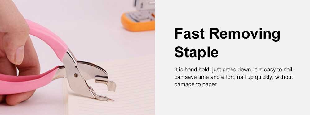 High Quality Hand Held Staple Remover Office Staple Remover Labor-saving And Comfortable Not To Hurt The Paper Stapler 5