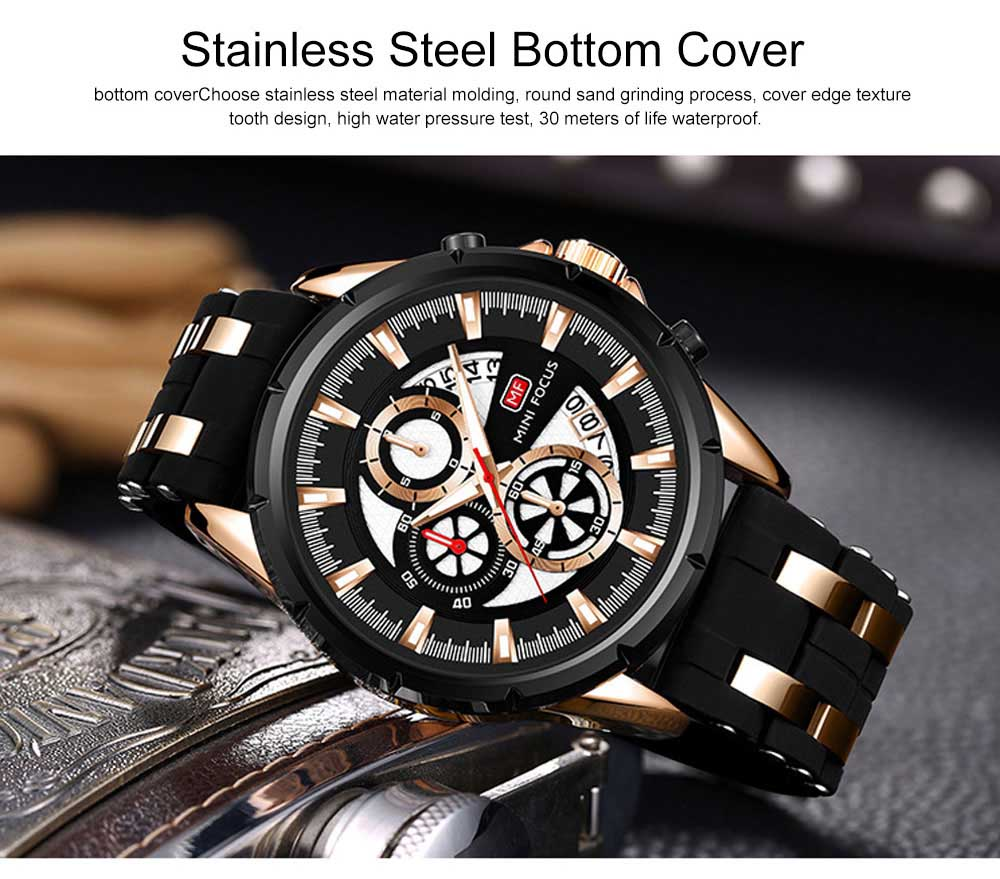 Classic Smart Electronic Watch with Multifunctional Rotary Calendar & Luminous Mode, Waterproof Watch with Wear Resistant Crystal Watch Mirror 4