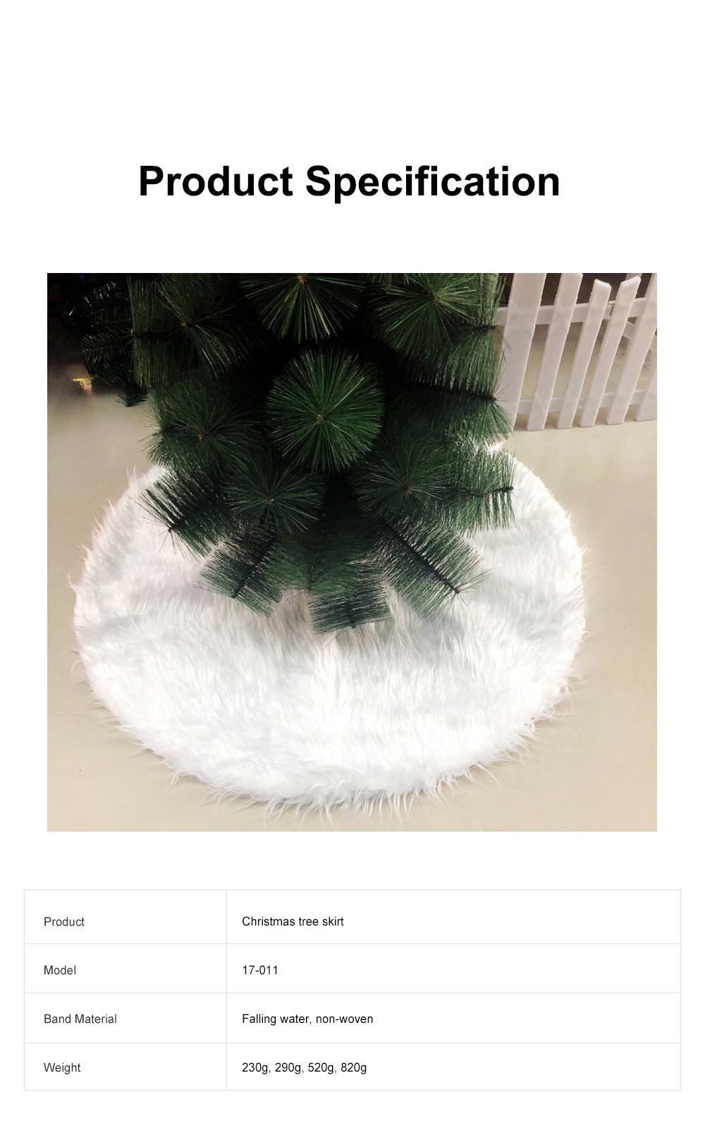 Long Snow Plush Christmas Tree Skirt Non Wovens Cotton Golden Ruffle Edge Base Floor Mat Cover New Year Xmas Party Decoration 6
