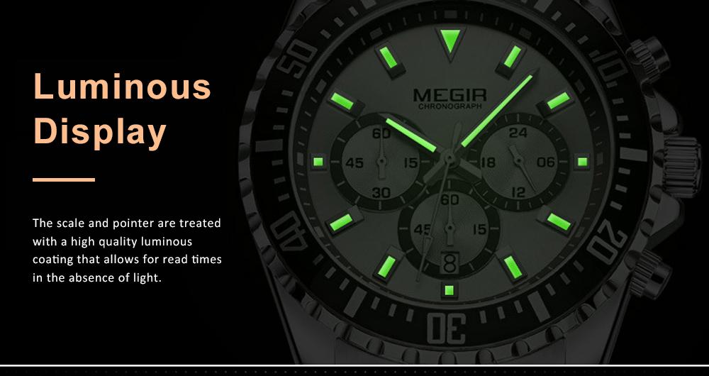 Men's Multifunctional Wrist Watch with Luminous Display and Quartz Movement Fashion Waterproof Watch 2