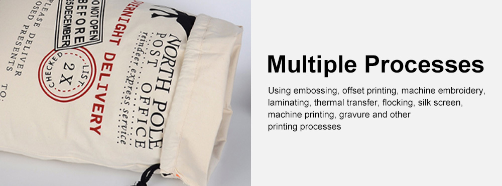 Cheap Recycled Reusable Plain White Organic Calico Cotton Canvas Christmas Drawstring Gift Bags Storage Bag 5