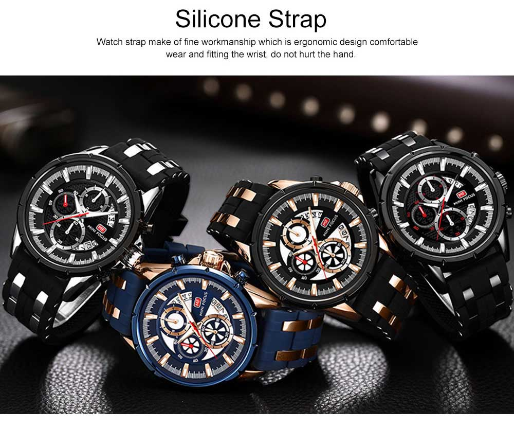Classic Smart Electronic Watch with Multifunctional Rotary Calendar & Luminous Mode, Waterproof Watch with Wear Resistant Crystal Watch Mirror 5
