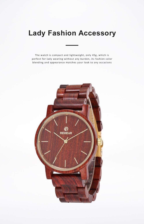 Men Women Watches Elegant Sandal Wood Band Combined Stainless Steel Quartz Wrist Bamboo Watch With Waterproof Wristwatch For Ladies Girls Men 5