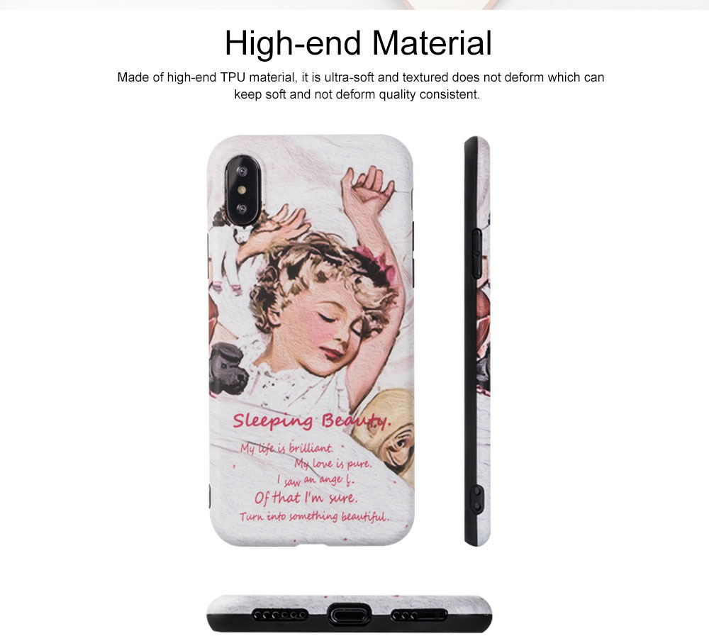 Mobile Phone Case with Goodnight Little Princess Pattern Design, Precise Audio Charging Hole Location Protective Shell for iphone 6 6s, iphone 6s plus, iphone 7, iphone 7 plus 8 Plus XS MAX XR 1