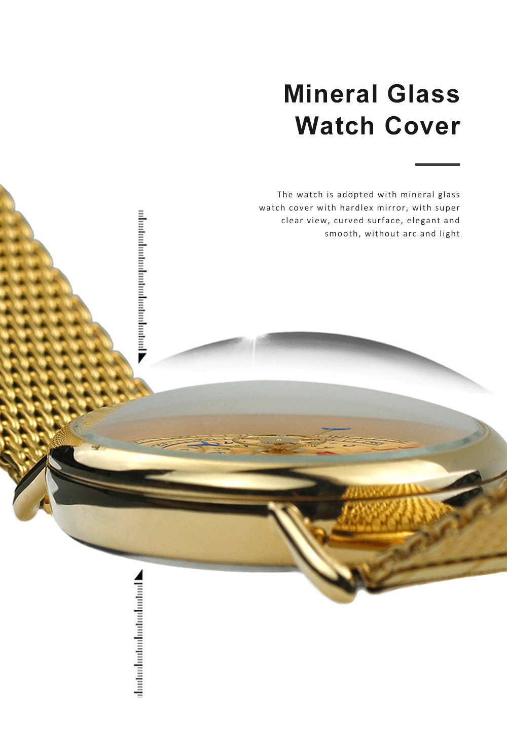 High-grade Full Gold Men's Watch Time Epoch Reincarnation Watch Creative New Concept Large Dial Gold Wristwatch 10