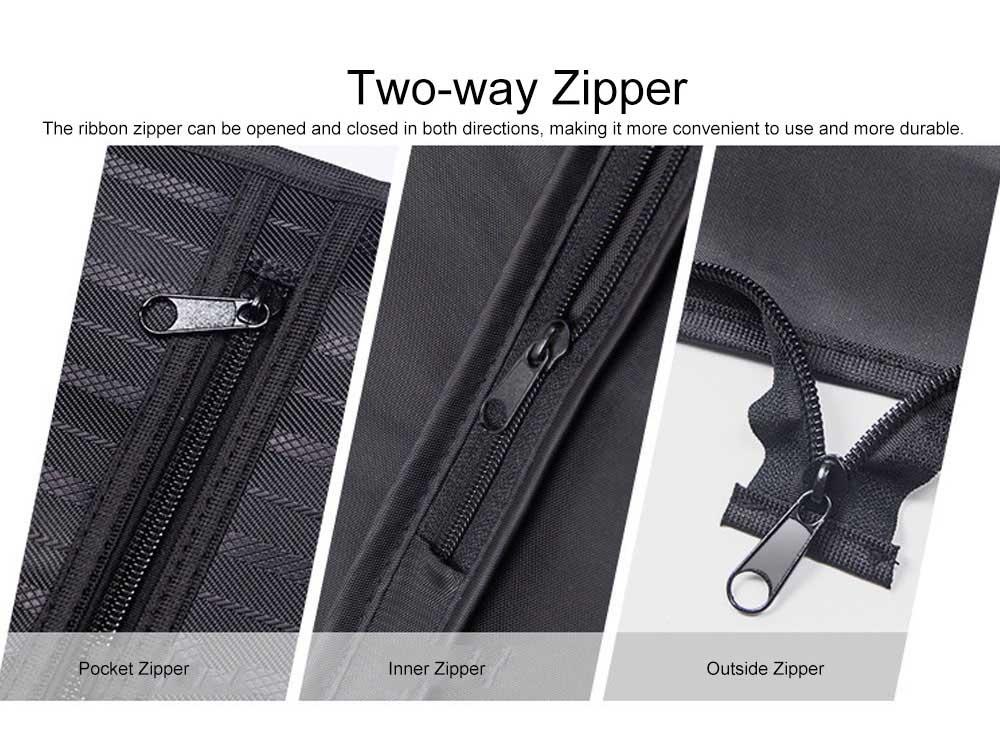 Mens Suit Travel Garment Bag Travel Suit Packing Organizer with Zipper Pocket, Dustproof Garment Folder 7