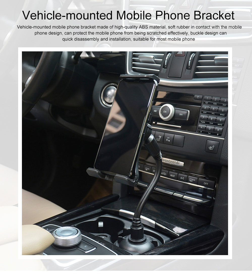 Vehicle-mounted Mobile Phone Bracket, Soft Rubber Stand Suitable for Most Mobile Phone Center Control Cell Phone Holder 0